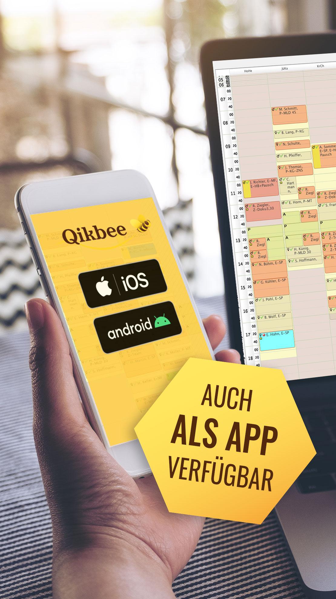Qikbee Praxis-Software App